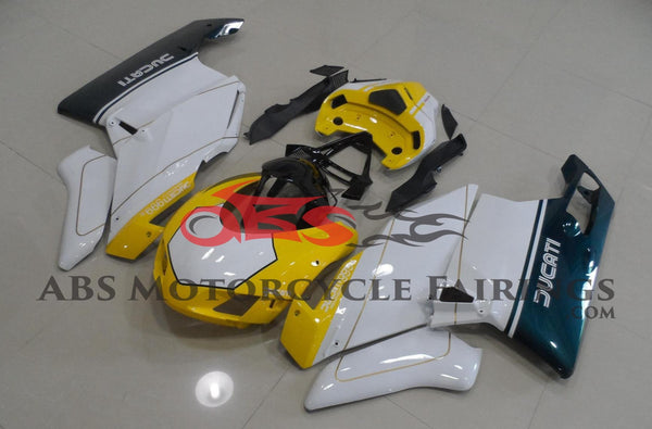 Ducati 999 (2003-2004) Yellow, White & Green Race Fairings