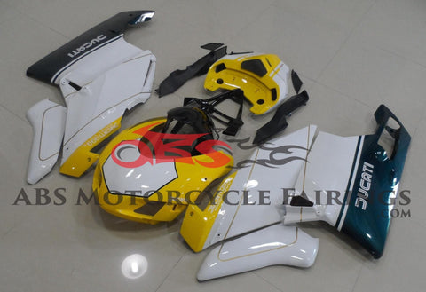 Ducati 749 (2003-2004) Yellow, White & Green Race Fairings