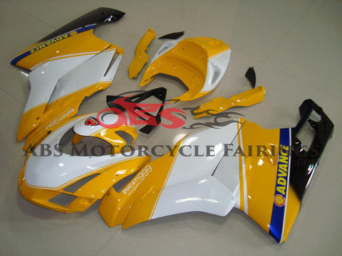 Ducati 749 (2003-2004) Yellow & White Race Fairings