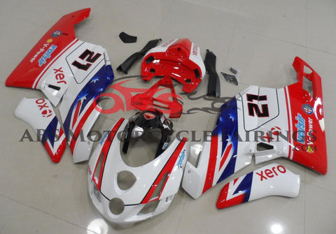 Red, White & Blue #21 Fairing Kit for a 2003 & 2004 Ducati 999 motorcycle