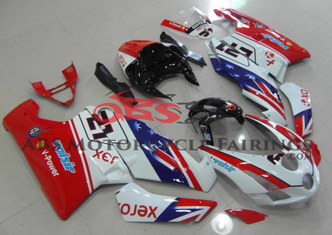 Red, White, Blue and Black #21 Fairing Kit for a 2003 & 2004 Ducati 999 motorcycle.