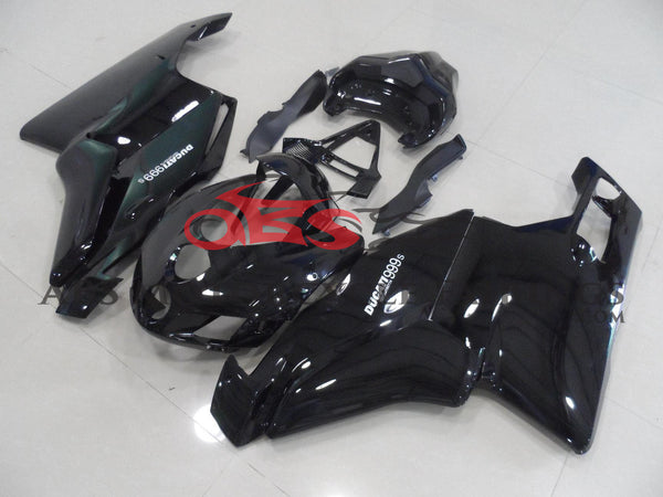 Gloss Black Fairing Kit for a 2005 & 2006 Ducati 999 motorcycle
