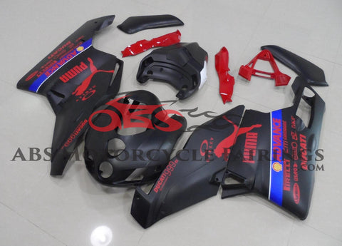 Ducati 999 (2005-2006) Matte Black & Red Puma Fairings