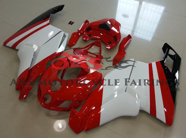 Ducati 749 (2005-2006) Red & White Stripe Fairings