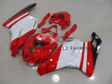 Red & White Fairing Kit for a 2005 & 2006 Ducati 999 motorcycle
