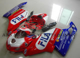 Red, White and Blue Fila Fairing Kit for a 2005 & 2006 Ducati 999 motorcycle