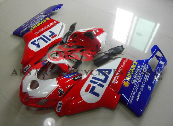 Ducati 999 (2005-2006) Red, White & Blue Fila Fairings