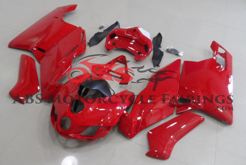 Gloss Red and White Fairing Kit for a 2005 & 2006 Ducati 749 motorcycle