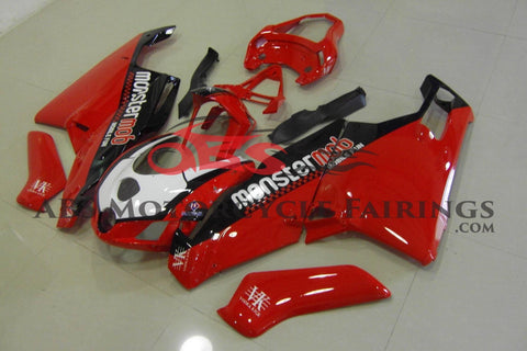 Red, Black and White MonsterMob Fairing Kit for a 2005 & 2006 Ducati 999 motorcycle