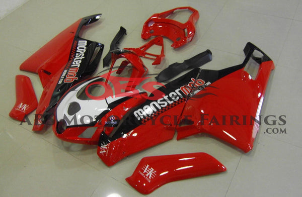 Ducati 749 (2005-2006) Red, Black & White MonsterMob Fairings