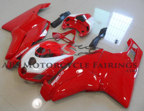 Red and White Fairing Kit for a 2005 & 2006 Ducati 749 motorcycle