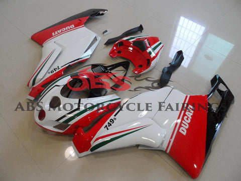 Ducati 999 (2005-2006) White, Red & Green Fairings