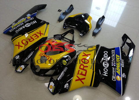 Yellow and Black Fairing Kit for a 2005 & 2006 Ducati 999 motorcycle