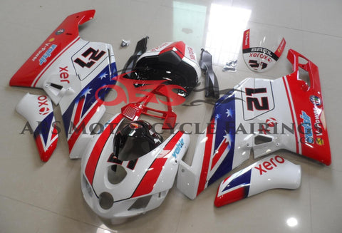 Red, White, Blue & Black #21 Fairing Kit for a 2005 & 2006 Ducati 999 motorcycle