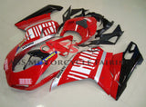 Ducati 1198 (2007-2012) Red, Silver, Black & White Striped Fairings