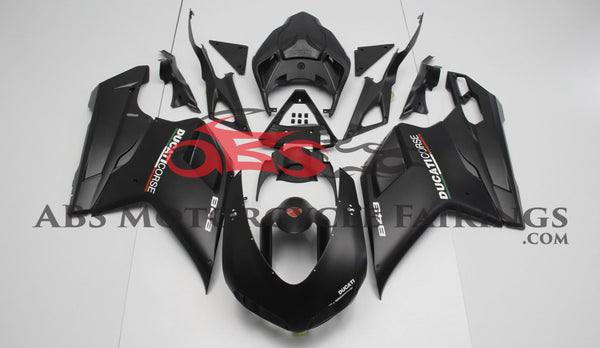 Ducati 1198 (2007-2012) Matte Black & White Corse Fairings