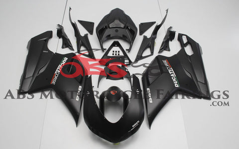 Ducati 1098 (2007-2012) Matte Black & White Corse Fairings