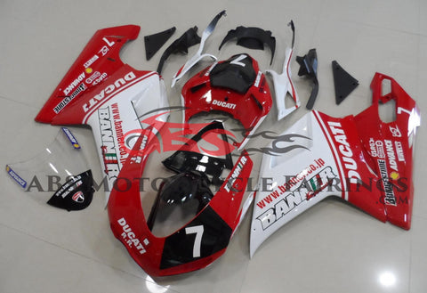 Banner 7 Red & White 2007-2012 DUCATI 1098