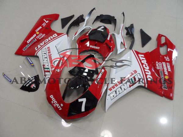 Banner 7 Red & White 2007-2012 DUCATI 1198