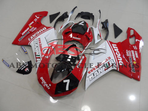 Banner 7 Red & White 2007-2012 DUCATI 848