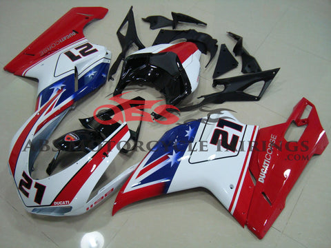 Ducati 1098 (2007-2012) Red, White & Blue Bayliss Corse Fairings