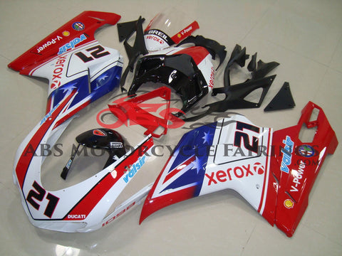 Ducati 1098 (2007-2012) Red, White & Blue Xerox Fairings