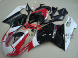 Black, White and Red Corse Fairing Kit for a 2007, 2008, 2009, 2010, 2011 & 2012 Ducati 1098 motorcycle