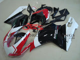 Black, White and Red Corse Fairing Kit for a 2007, 2008, 2009, 2010, 2011 & 2012 Ducati 1198 motorcycle