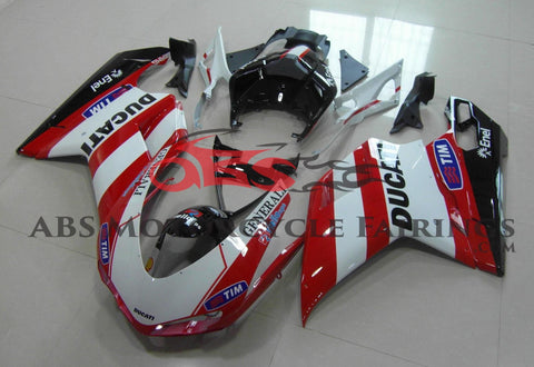Ducati 1098 (2007-2012) White, Red & Black Generali Fairings