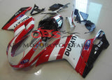 White, Red & Black Generali Fairing Kit for a 2007, 2008, 2009, 2010, 2011 & 2012 Ducati 848 motorcycle