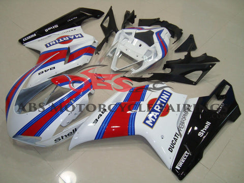 Ducati 1098 (2007-2012) White, Red & Blue Martini Fairings