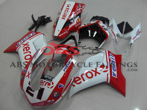 Ducati 1098 (2007-2012) Red & White Xerox #21 Fairings