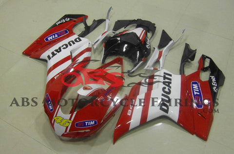 Ducati 1098 (2007-2012) Red, White, Black & Yellow Tim #46 Fairings