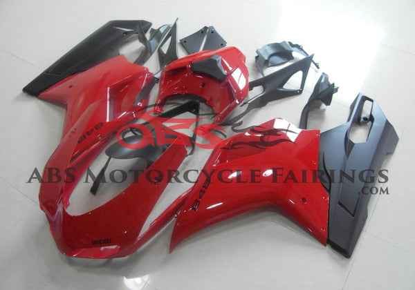 Ducati 1098 (2007-2012) Red & Matte Black Fairings