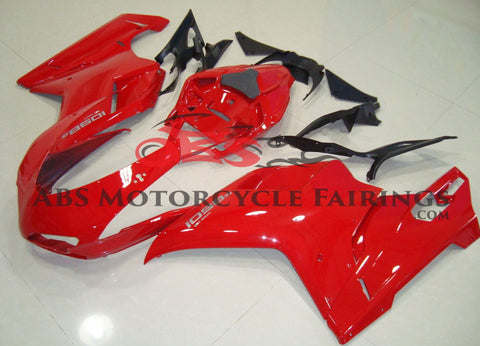 Gloss Red Fairing Kit for a 2007, 2008, 2009, 2010, 2011 & 2012 Ducati 1098 motorcycle