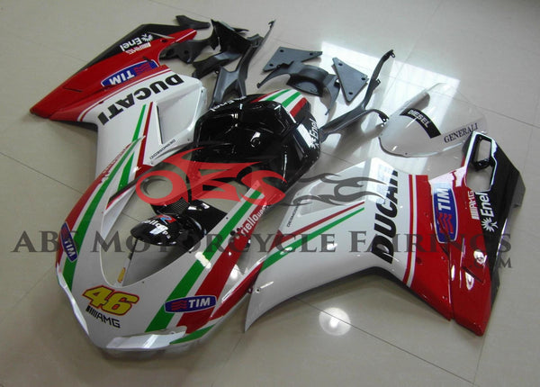 Tim 46 Red & Green Stripe 2007-2012 DUCATI 848