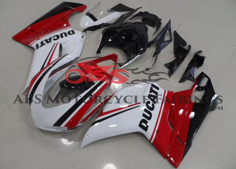 Ducati 1098 (2007-2012) White, Red & Black Tricolor Fairings