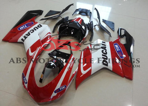 Ducati 1098 (2007-2012) Red, White & Black Tim Fairings