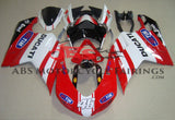 Red, White & Black Tim #46 Fairing Kit for a 2007, 2008, 2009, 2010, 2011 & 2012 Ducati 1198 motorcycle