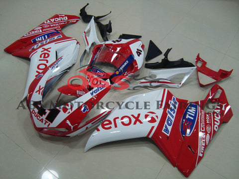 Ducati 1098 (2007-2012) Red & White Xerox #41 Fairings