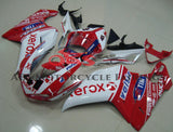 White and Red Xerox #41 Fairing Kit for a 2007, 2008, 2009, 2010, 2011 & 2012 Ducati 848 motorcycle.