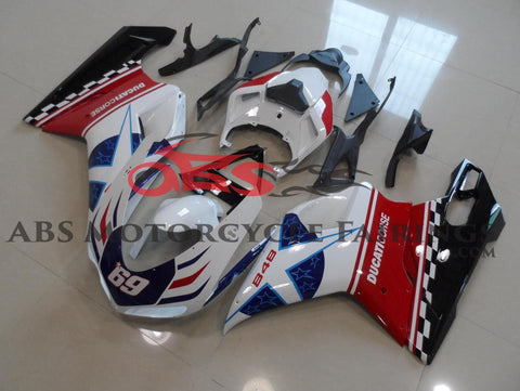 Ducati 1098 (2007-2012) Red, White & Blue Corse Star #69 Fairings