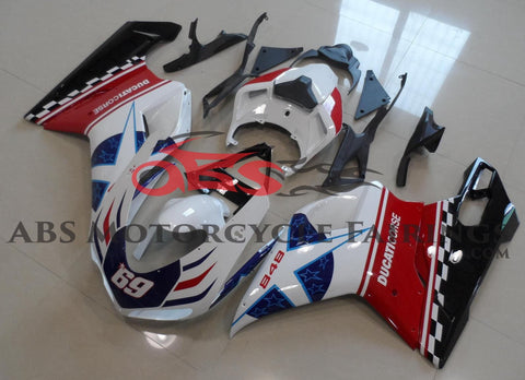 Corse Star 69 Red, White & Blue 2007-2012 DUCATI 848