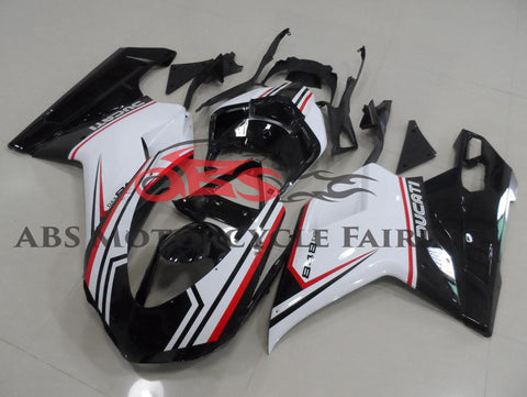 Ducati 1098 (2007-2012) Black, White & Red Tricolor Fairings