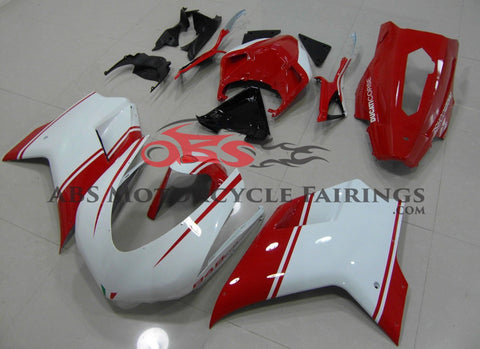 Ducati 1098 (2007-2012) White & Red Evo Race Fairings