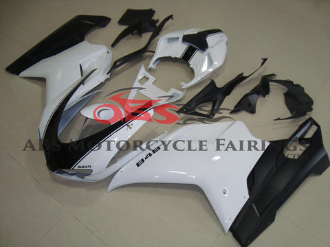 Ducati 1098 (2007-2012) White & Black Striped Fairings