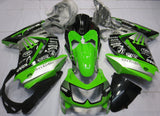 Kawasaki Ninja 250R (2008-2013) Green, Black & Silver Monster Fairings