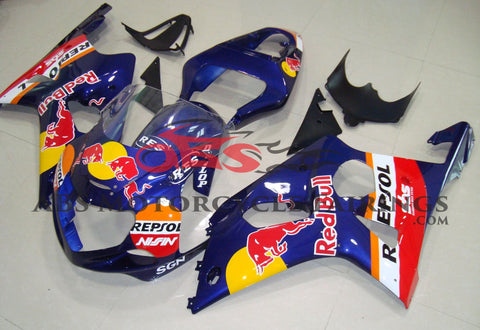 Red Bull Dark Blue 2000-2002 Suzuki GSXR1000