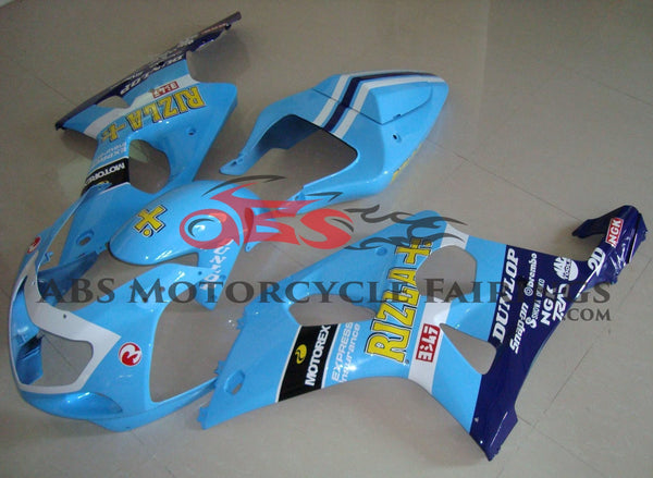 Suzuki GSXR1000 (2000-2002) Light Blue, White & Dark Blue Rizla Fairings