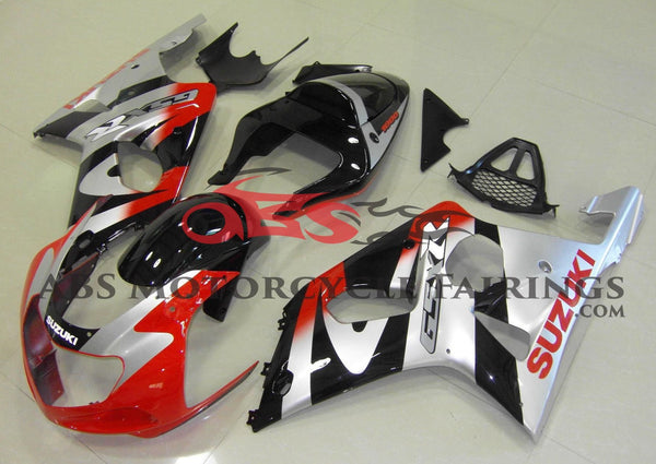 Suzuki GSXR1000 (2000-2002) Red, Silver & Black Fairings